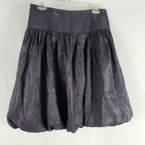 Lillie Ruben Skirt NEW Bubble Hem Textured Gray